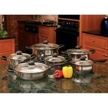 Bnf Wyndham House 12pc Stainless Steel Cookware Set