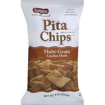 Kangaroo Multi-Grain Garden Herb Pita Chips, 9 oz, (Pack of 12)