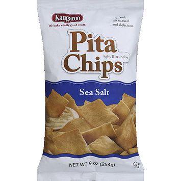 Kangaroo Sea Salt Pita Chips, 9 oz, (Pack of 12)