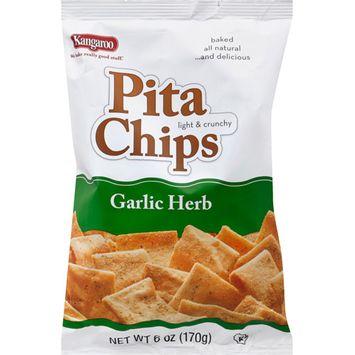 Kangaroo Garlic Herb Pita Chips, 6 oz (Pack of 12)