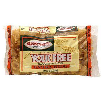 Manischewitz Premium Enriched Extra Wide Yolk Free Noodles, 12 oz (Pack of 12)
