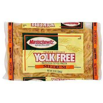 Manischewitz Premium Enriched Medium Yolk Free Noodles, 12 oz (Pack of 12)