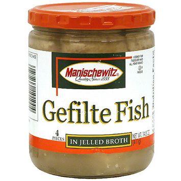 Manischewitz Gelfilte In Jellied Broth Fish, 14.5 oz (Pack of 6)