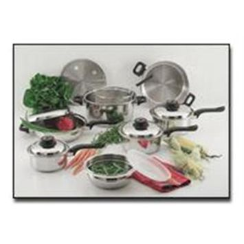 Bnf Chef KT915 15 Pieces Stainless Steel Cookware Set