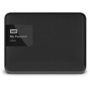 Wd - My Passport Ultra 500GB External USB 3.0/2.0 Portable Hard Drive - Classic Black