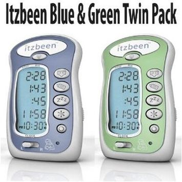 Itzbeen Blue & Green Twin Pack Baby Care Timer