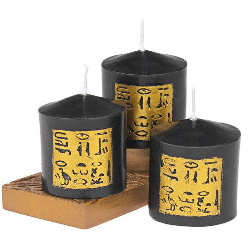 Design Toscano Egyptian Pillar Candle (Set of 3)