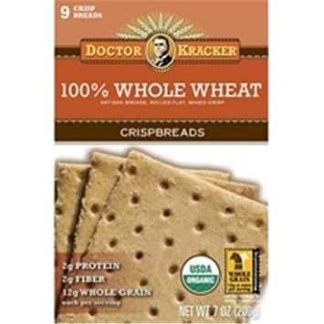 Dr Kracker Dr. Kracker Crispbread, 100% Whole Wheat, 7 oz