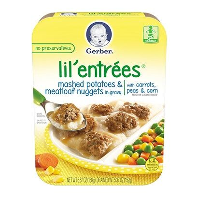 Gerber® Lil' Entrées® Mashed Potatoes & Meatloaf Nuggets In Gravy With Carrots, Peas & Corn