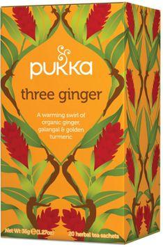 Pukka Herbs - Organic Herbal Tea Three Ginger - 20 Tea Bags