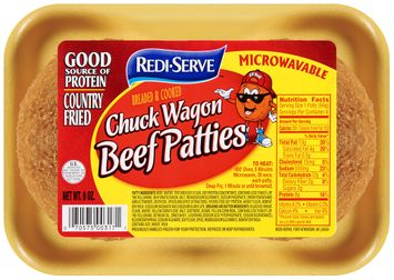 Redi-Serve Chuck Wagon Beef Patties Breaded & Cooked
