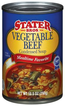 Stater bros Vegetable Beef Condensed Soup