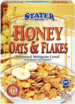 Stater bros Sweetened Multigrain Cereal W/Honey Oat Clusters Honey Oats & Flakes