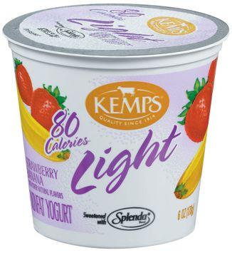 Kemps Light Strawberry Banana Nonfat Yogurt