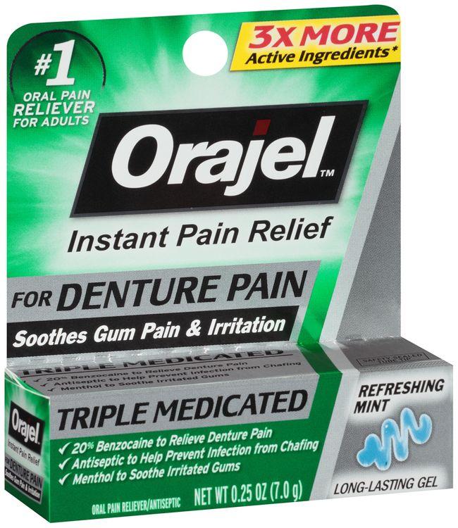 Orajel™ Refreshing Mint Denture Pain Oral Pain Reliever Gel