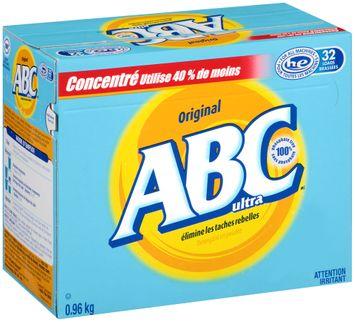 ABC™ Ultra Original Powder Laundry Detergent 0.96kg Box