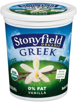 Stonyfield Organic™ Greek Vanilla Nonfat Yogurt