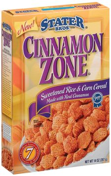 Stater bros Cinnamon Zone Sweetened Rice & Corn W/Real Cinnamon Cereal