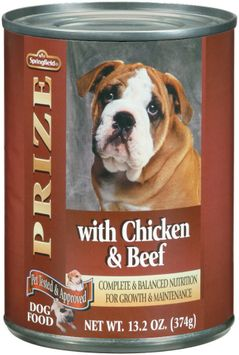 Springfield Prize W/Chicken & Beef Dog Food