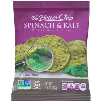 the better chip® spinach & kale whole grain chips