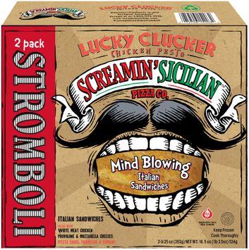 Screamin' Sicilian™ Pizza Co. Lucky Clucker Chicken Pesto Stromboli 2 ct Box