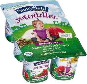 Stonyfield Organic™ YoToddler® Raspberry Pear Yogurt