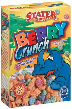 Stater bros Berry Crunch Sweetened Corn & Oat Cereal