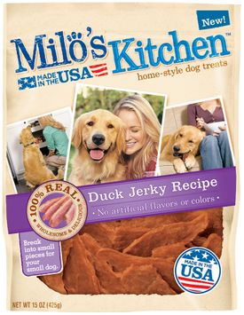 Milo's Kitchen Duck Jerky Recipe Dog Treats