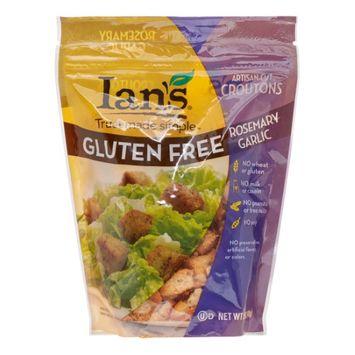 Ian's Natural Foods Gluten Free Artisan-Cut Croutons Rosemary Garlic 5 oz