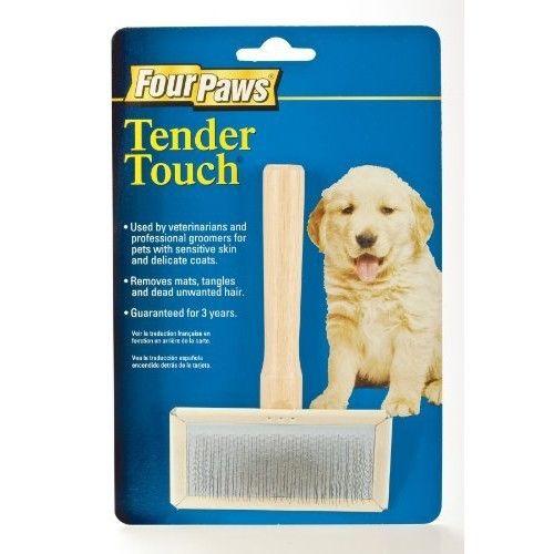 Four Paws Tender Touch Medium Puppy Grooming Slicker Brush