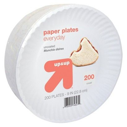 up & up Everyday Paper Plates 9 in 200 ct