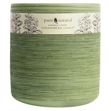 Pacific Trade Pure and Natural GREEN Filled Candle Lg