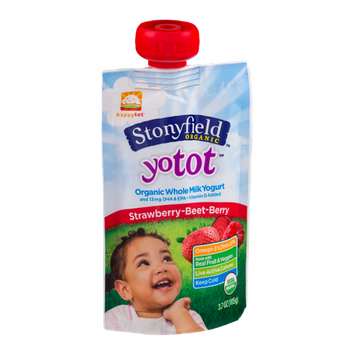 Stonyfield Organic Yotot Organic Whole Milk Yogurt Strawberry-Beet-Berry