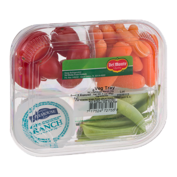 Del Monte® Veg Tray with Litehouse Ranch Dip