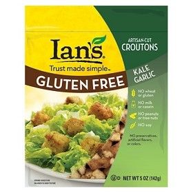 Ian's Natural Foods All Natural Gluten Free Croutons Kale Garlic 5 oz