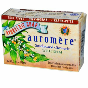 Auromere Ayurvedic Bar Soap Sandalwood-Turmeric 2.75 oz