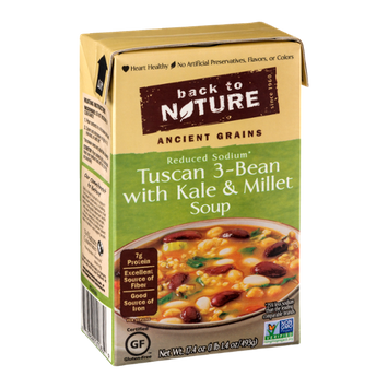 Back to Nature Tuscan 3-Bean with Kale & Millet Soup Reduced Sodium