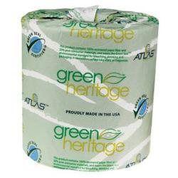 Lagass GREEN HERITAGE BATHROOM TISSUE, 2-PLY, 500 SHEETS/ROLL, 96 ROLLS/CARTON