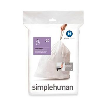 simplehuman 10-Count 13.2-Gallon Indoor Trash Bags CW0167