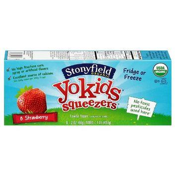 Stonyfield YoKids Strawberry Organic Low-Fat Yogurt Squeezers 2 oz 8