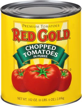 red gold® chopped tomatoes in puree