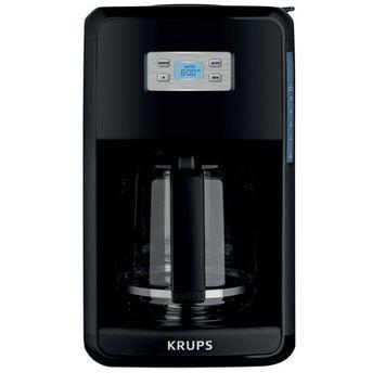 Krups Coffee Makers Savoy 12-Cup Coffee Maker in Black Stainless EC311050