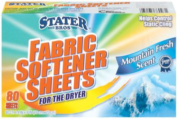 Stater Bros. Mountain Fresh Scent For The Dryer Fabric Softener Sheets 80 Ct Box