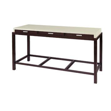 Allan Copley Designs 3403-03 Spats 3 Drawer Rectangular Console Table in Espresso