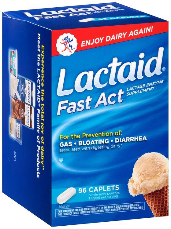 Lactaid® Fast Act Lactase Enzyme Supplement Caplets 96 ct. Box