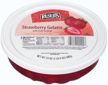 reser's fine foods® strawberry gelatin with fruit cocktail