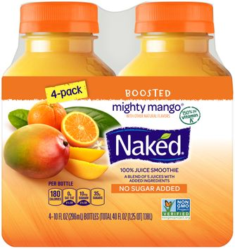 naked® boosted mighty mango® 100% juice smoothies