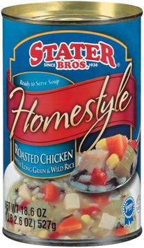 Stater bros Homestyle Roasted Chicken W/Long Grain & Wild Rice Ready to Serve Soup