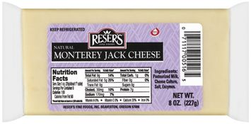 Reser's Fine Foods Natural Monterey Jack Cheese