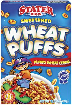 Stater bros Wheat Puffs Cereal